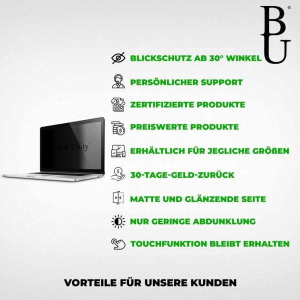 Blickschutzfolie Laptop